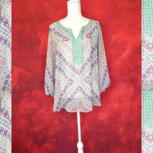 Anthropologie Fig and Flower Boho Lace Blouse XL
